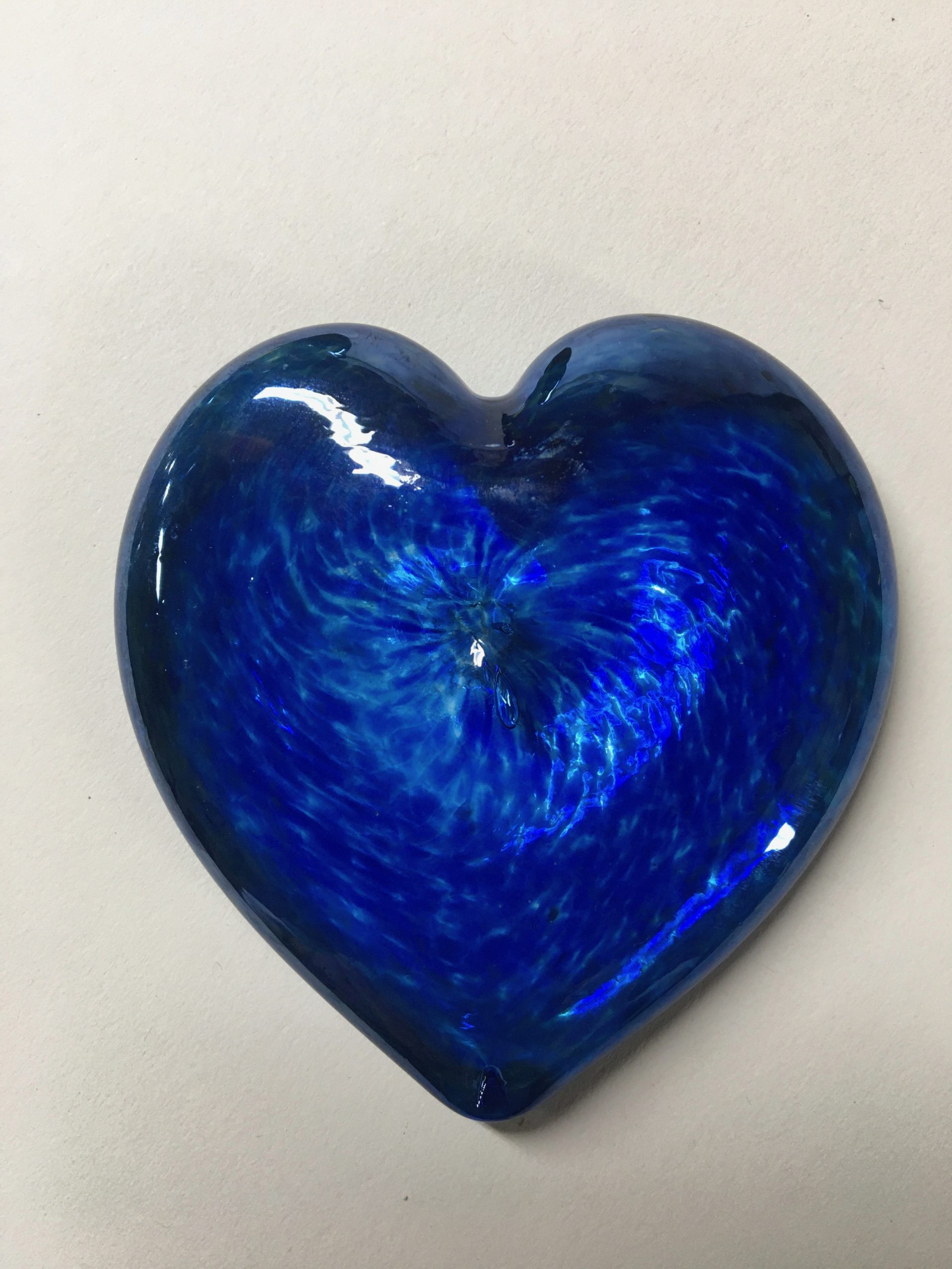 Heart of glass blue